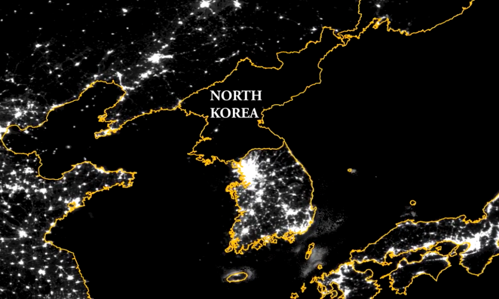 Satellite images can be used to see the expansion of agriculture in North Korea.