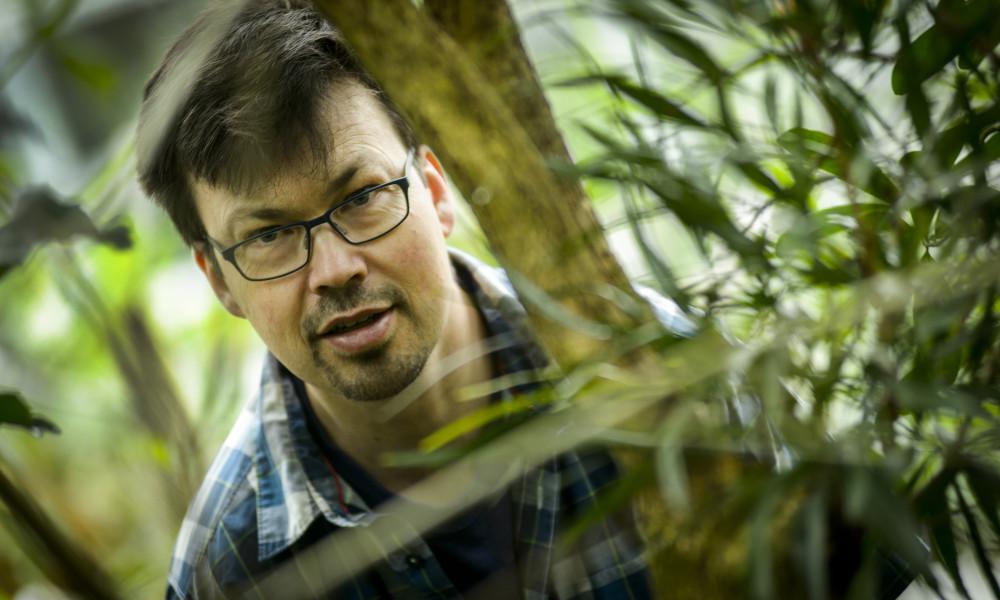 Lars Pettersson studies butterflies