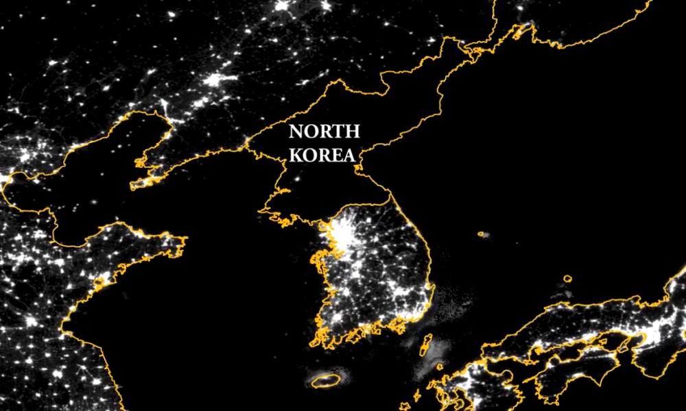 выходит пределы северная корея фото со спутника храма