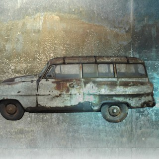 Automobile collage