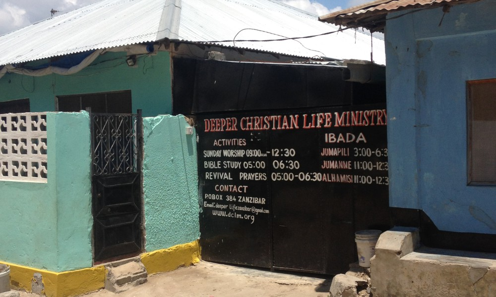 Christianity in Africa is growing through small-scale movements outside the major denominations. Deeper Christian Life Ministry in Zanzibar City is a Pentecostal church based close to the local population, in a residential building, with a small number of members.