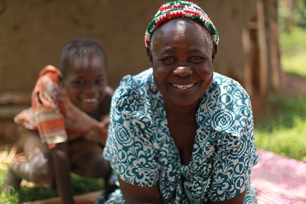 One of the smallholder farmers taking the initiative to start a women's group, Loy Oketcho Mijas, Uganda.