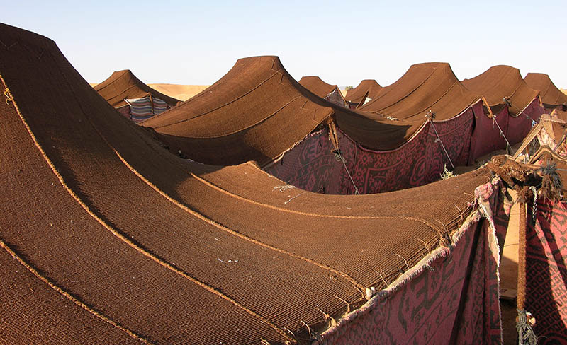 Bedouin tents & Nomad tents provide better shelter in Middle East refugee camps