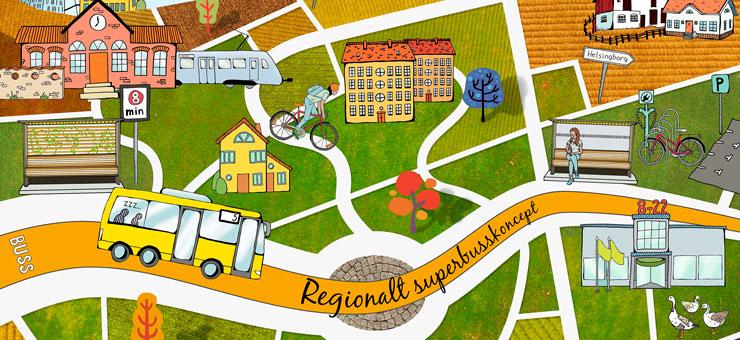 Regional superbus concept is on it´s way Photo: Region Skåne