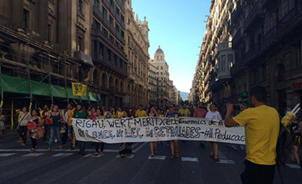 Activists in Barcelona